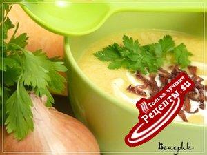 Тыквенный суп-пюре с беконом