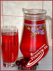 Вишнево - мятный напиток