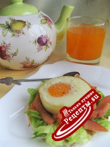 """запеченые яйца """"Воскресный завтрак"""""""