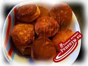 Заварные сырные пончики с крабовыми палочками