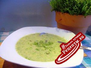 """Зеленый суп-крем """"В ожидании весны"""""""