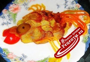 """Жаренная картошечка """"Рыбка"""" (просто форма подачи)"""