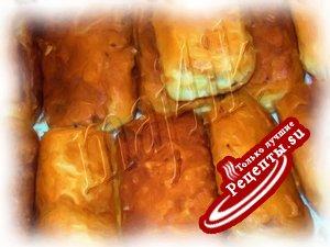Жаренные пирожки из слоёного теста с необычной начинкой